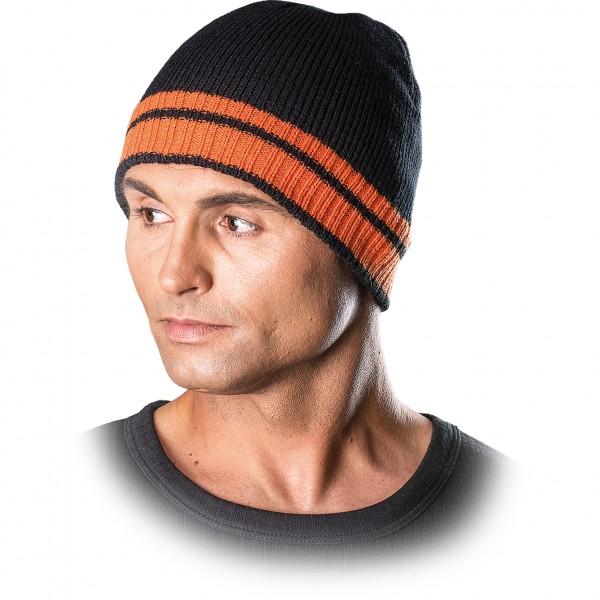 3x Wintermütze - CZPAS - Beanie Mütze - Schwarz und Orange