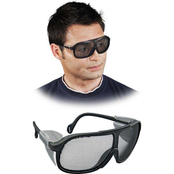 Schutzbrille - MESH - Schwarzer Rahmen + Gitter