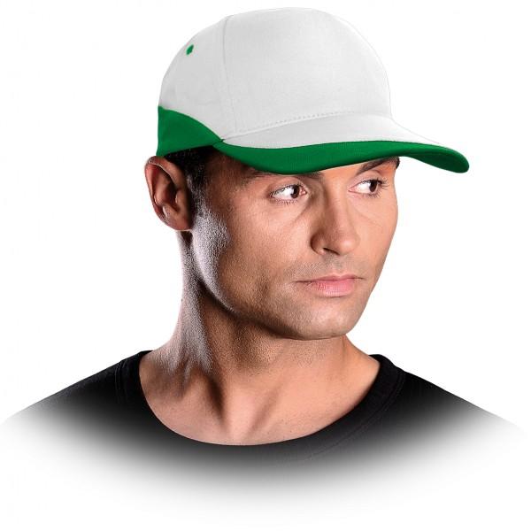 Cappy - Kappe - CZC - Modernes Design Weiß und Grün