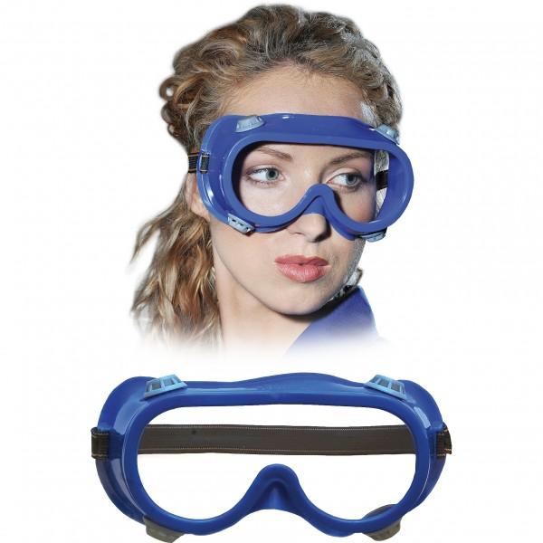 Vollsichtbrille, Schutzbrille - GOG - Blau - Optische Klasse 1
