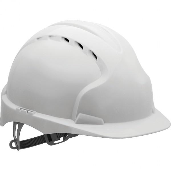 Schutzhelm - KAS-EVO2 - HDPE-Kunststoff - JSP - Made in UK - Weiß