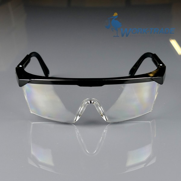 12 Stück Schutzbrille - MEB - Schwarzer Rahmen - Optische Klasse 1