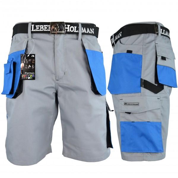 Arbeitshose - LHTS - Leber & Hollman - Hellgrau / Blau