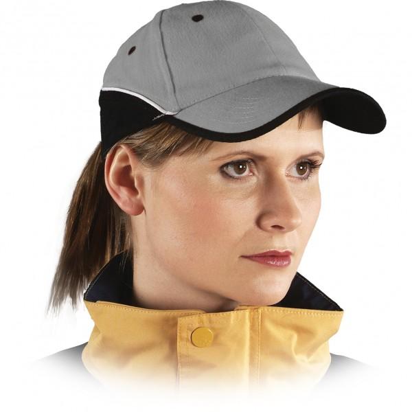 Cappy - Kappe - CZT - Modernes Design Grau Schwarz Weiß