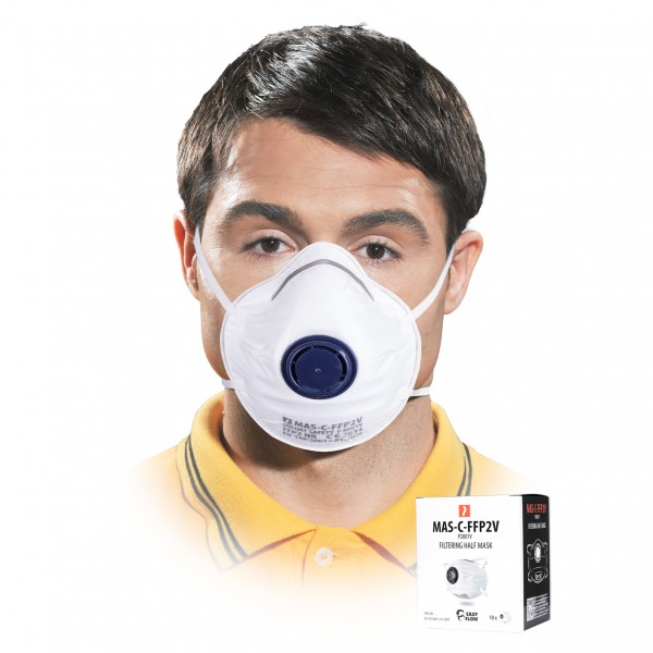 Einwegmaske - MAS-C-FFP2V - 10er Pack - mit Ventil
