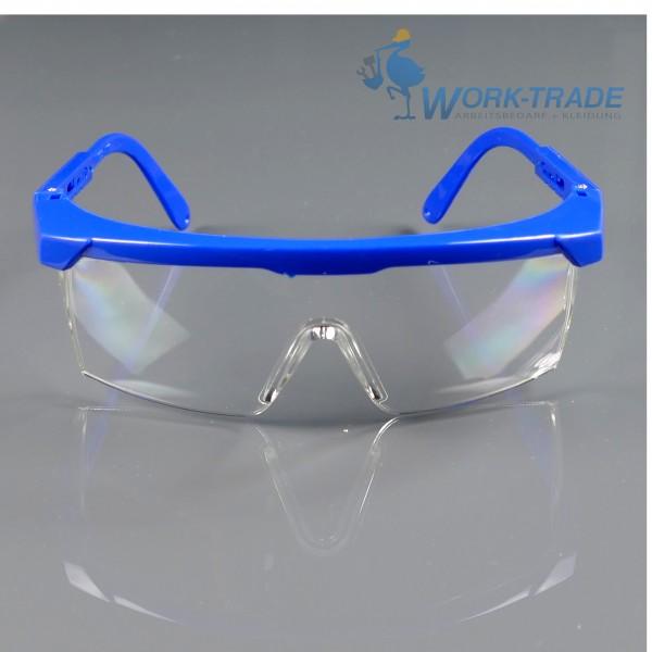 12 Stück Schutzbrille - FRAFOG - Blauer Rahmen - Optische Klasse 1