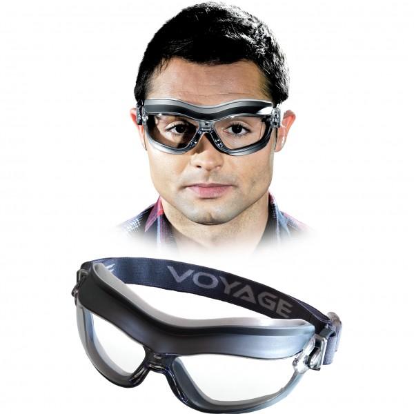 Vollsichtbrille, Schutzbrille - VOYAGE - Grau - Optische Klasse 1