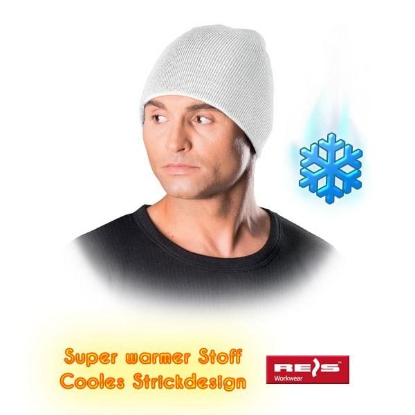 Wintermütze - CZMODERN - Beanie Mütze - Cooles Strickdesign - Weiß