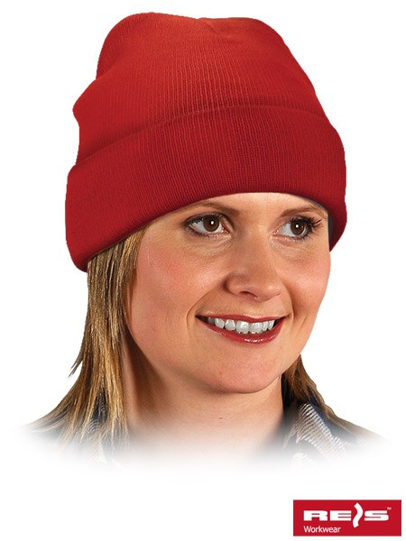 Wintermütze - BAW - 100% Acrylgarn - Rot